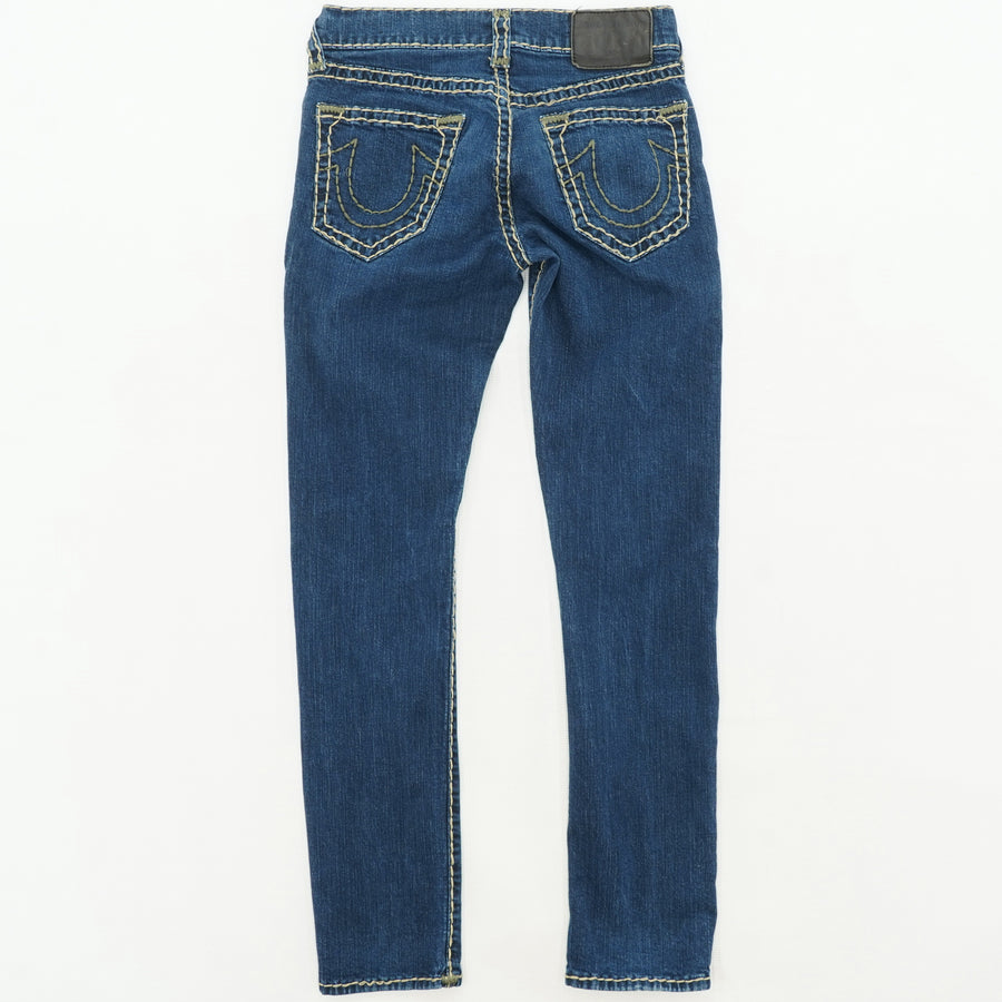 Relaxed Slim Decorative Stitch Jeans 30