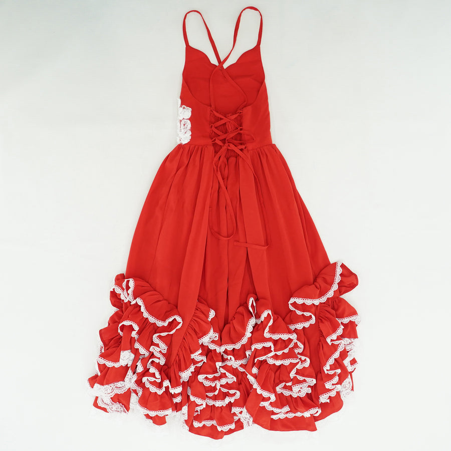 A Thousand Words Red Frill Dress