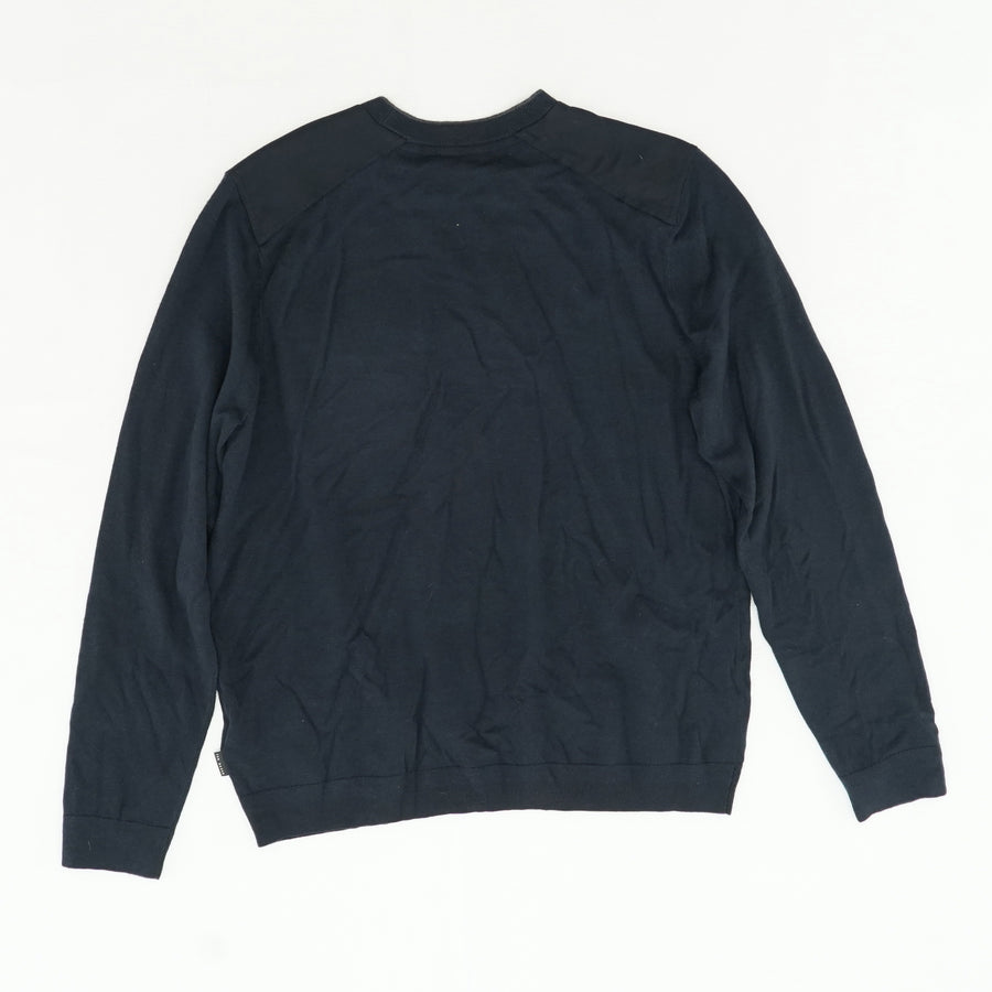 Crew Neck With Patch Pocket Tee Size 7