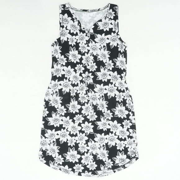 Black And White Floral Dress Size XL