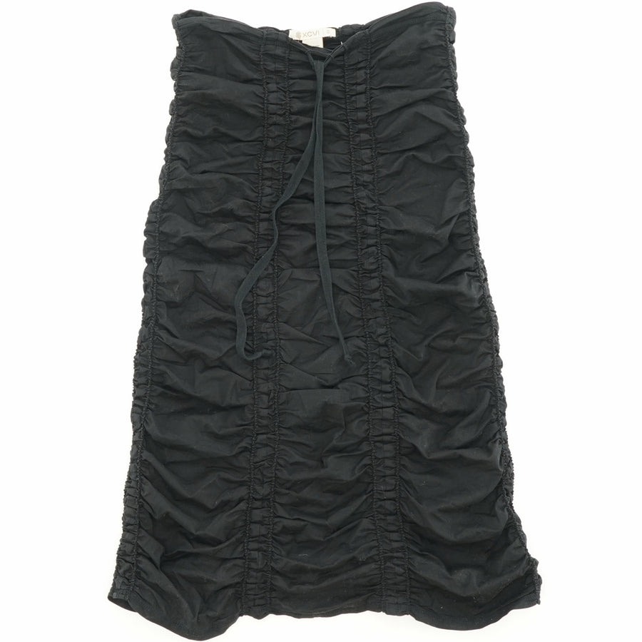 Black Double Shirred Panel Skirt Size XS