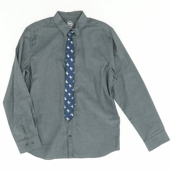 Long Sleeve Shirt And Tie Set Size 14/16