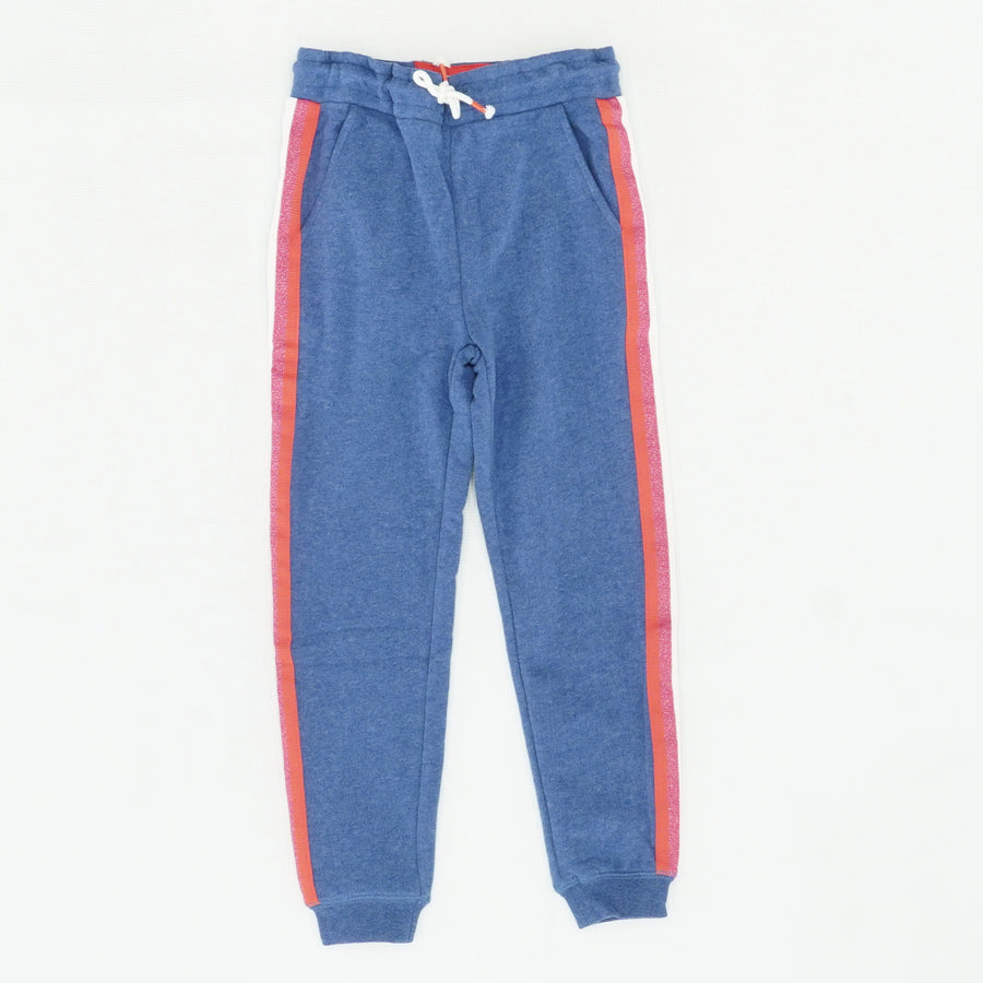 Blue Sweat Pants With Stripe Details Size 6