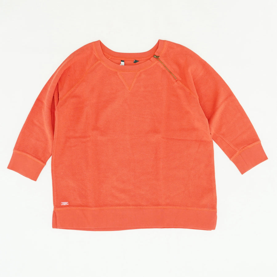 Orange 3/4 Sleeve Knit Sweater Size 1X