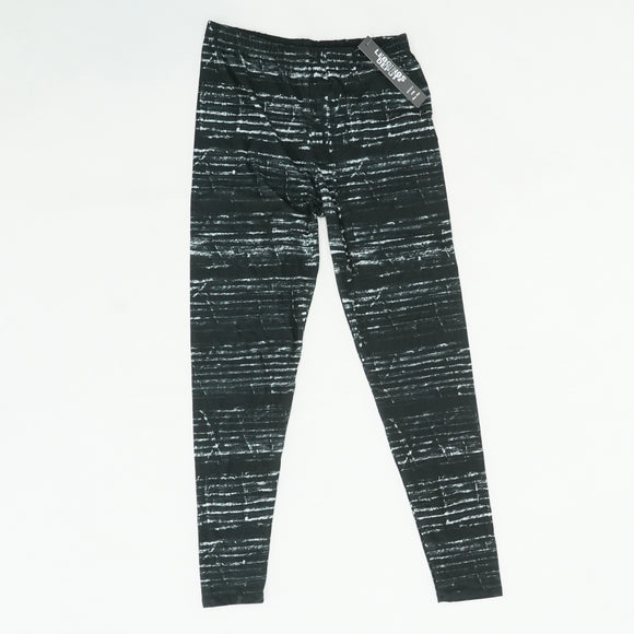Black Leggings With White Detail Size Plus