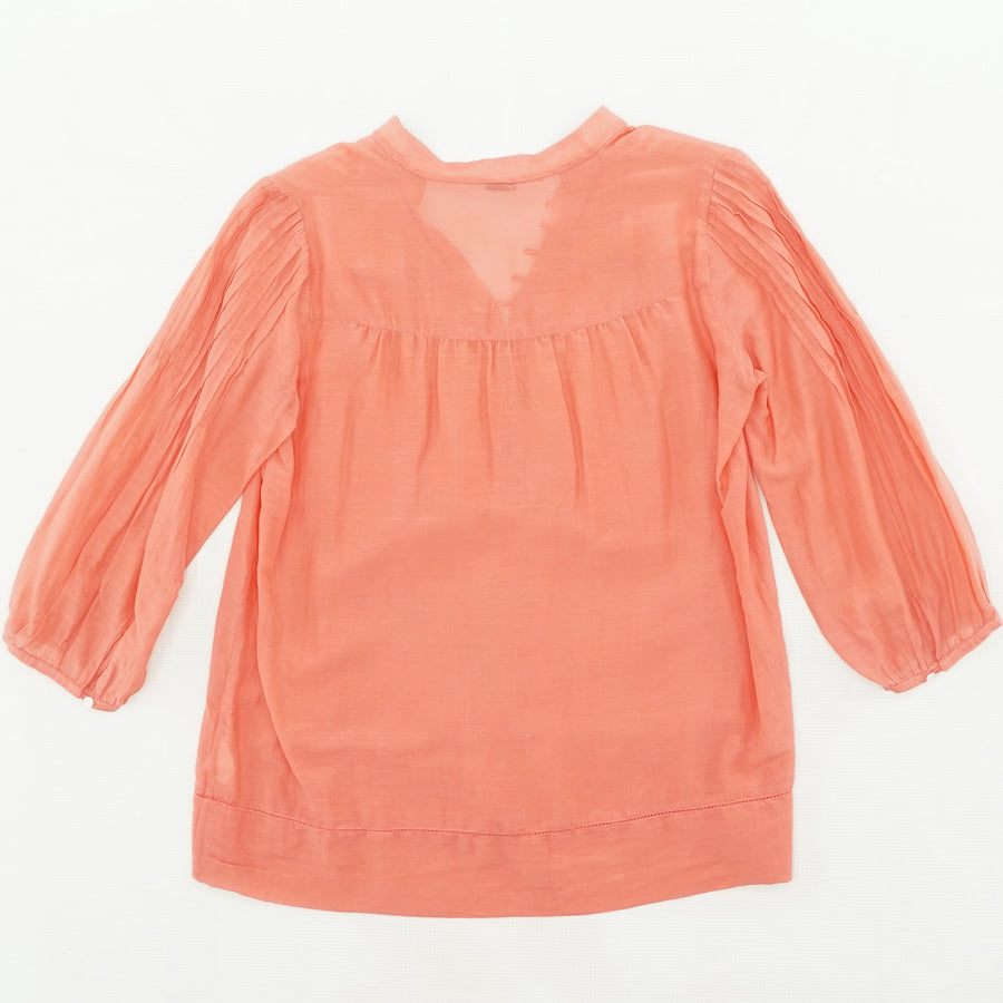 Casual Peach Blouse With Button Detail Size S