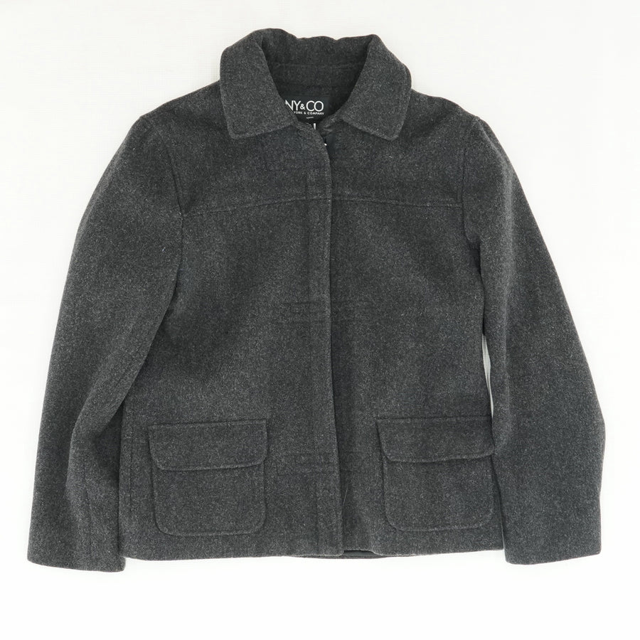 100% Wool Full Zip Jacket Size 6