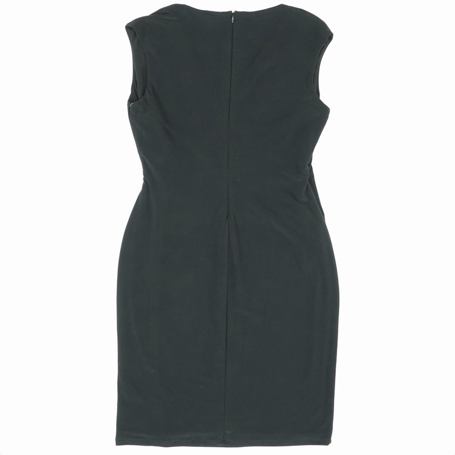 Pinned Waist Sleeveless Dress