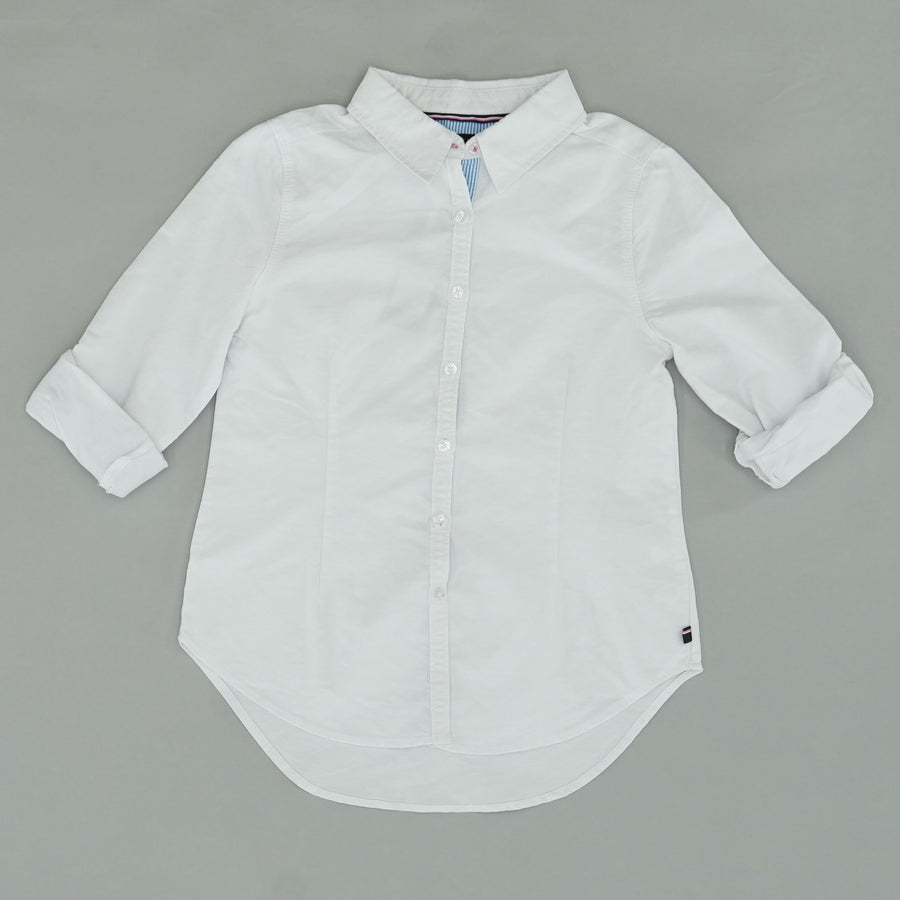Cuffed White Button-Up Size 8/10