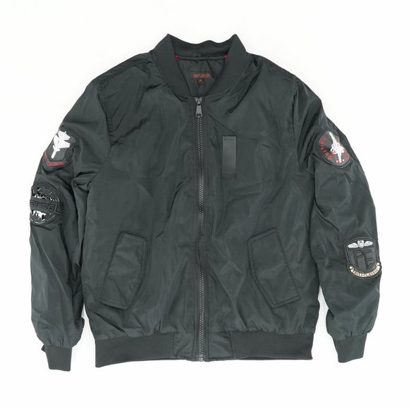 Patched Bomber Jacket Size M