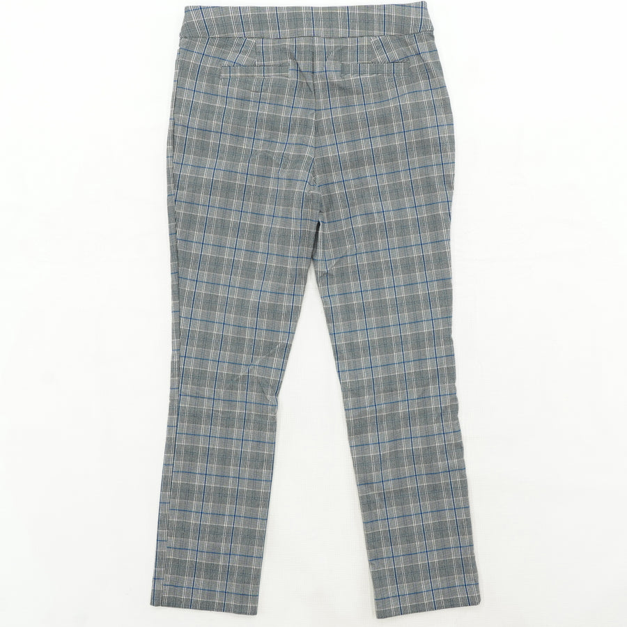 Straight Leg Stretch Plaid Pants  Size_10