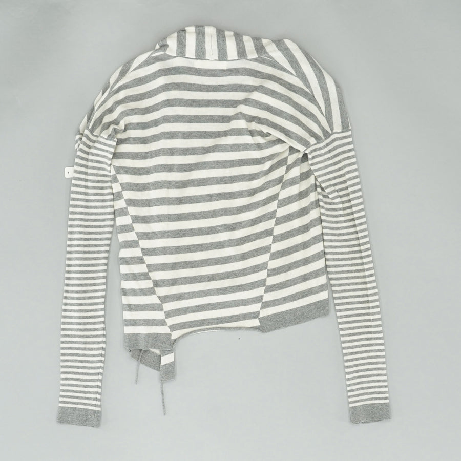 Striped Cross Front Sweater Size S