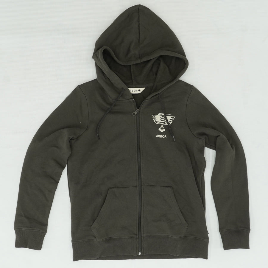 Faded Black Arbor Outpost Zip Hoodie Size L