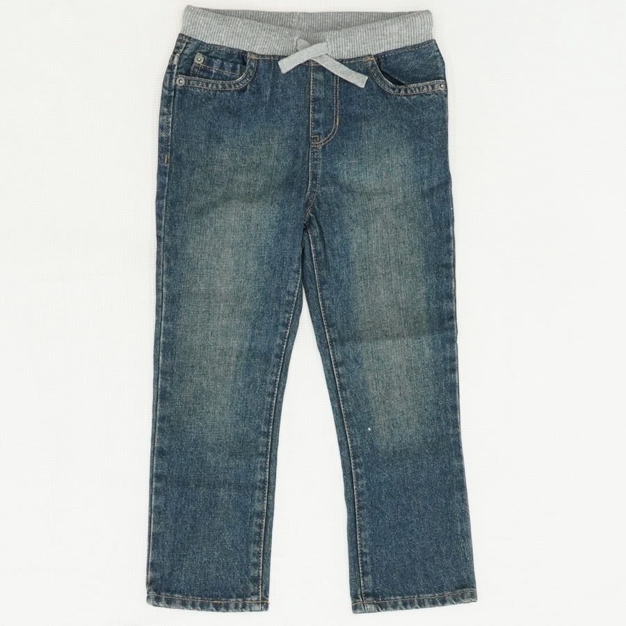 Pull On Straight Leg Jeans Size 4T