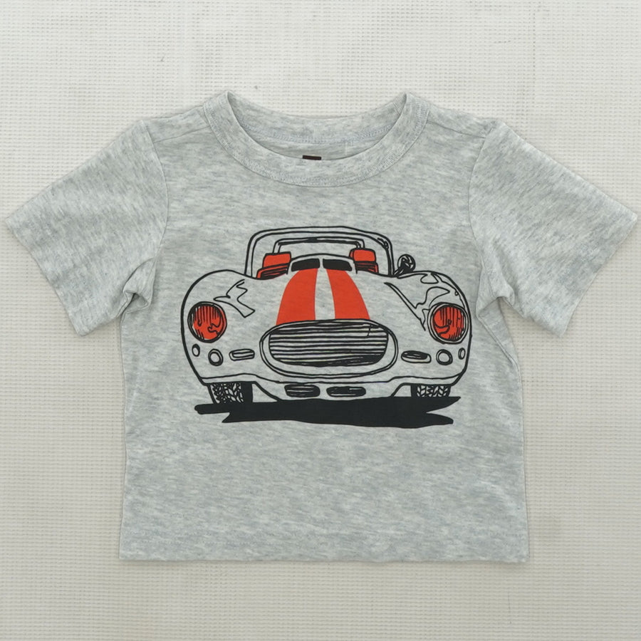 Gray Car Graphic T Shirt