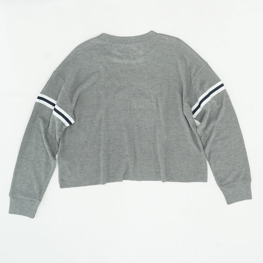 Gray Logo Long Sleeve Shirt Size S