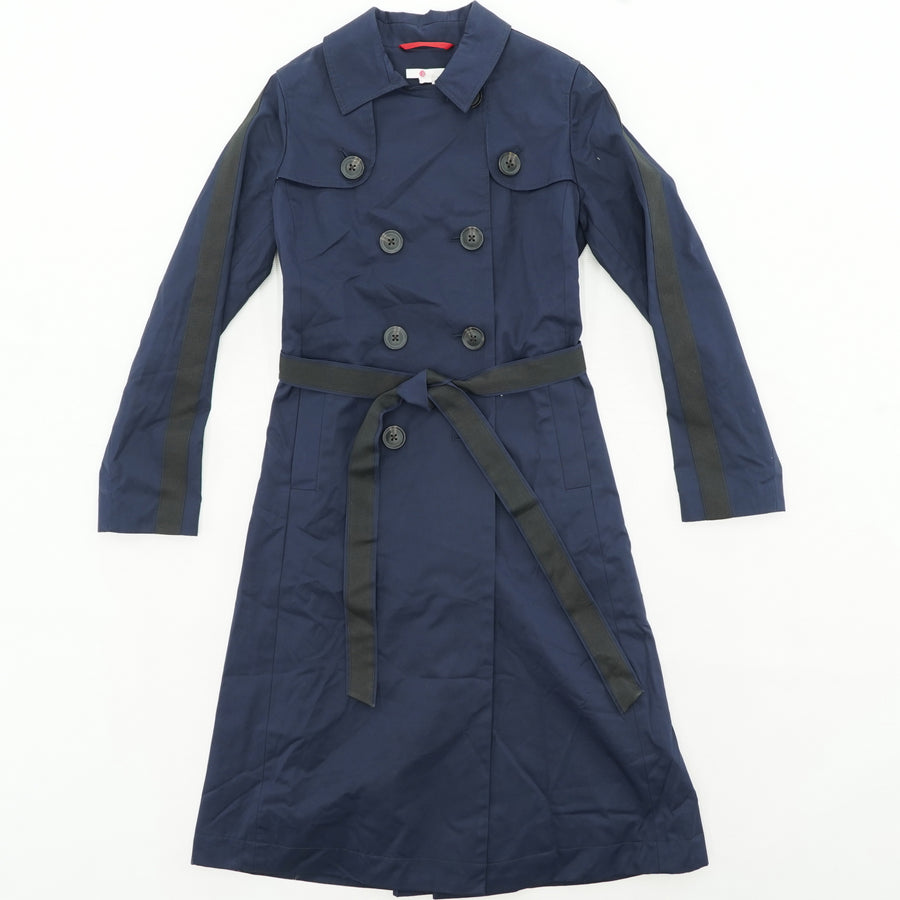 Button Down Tie-Waist Trench Coat - Size 6R