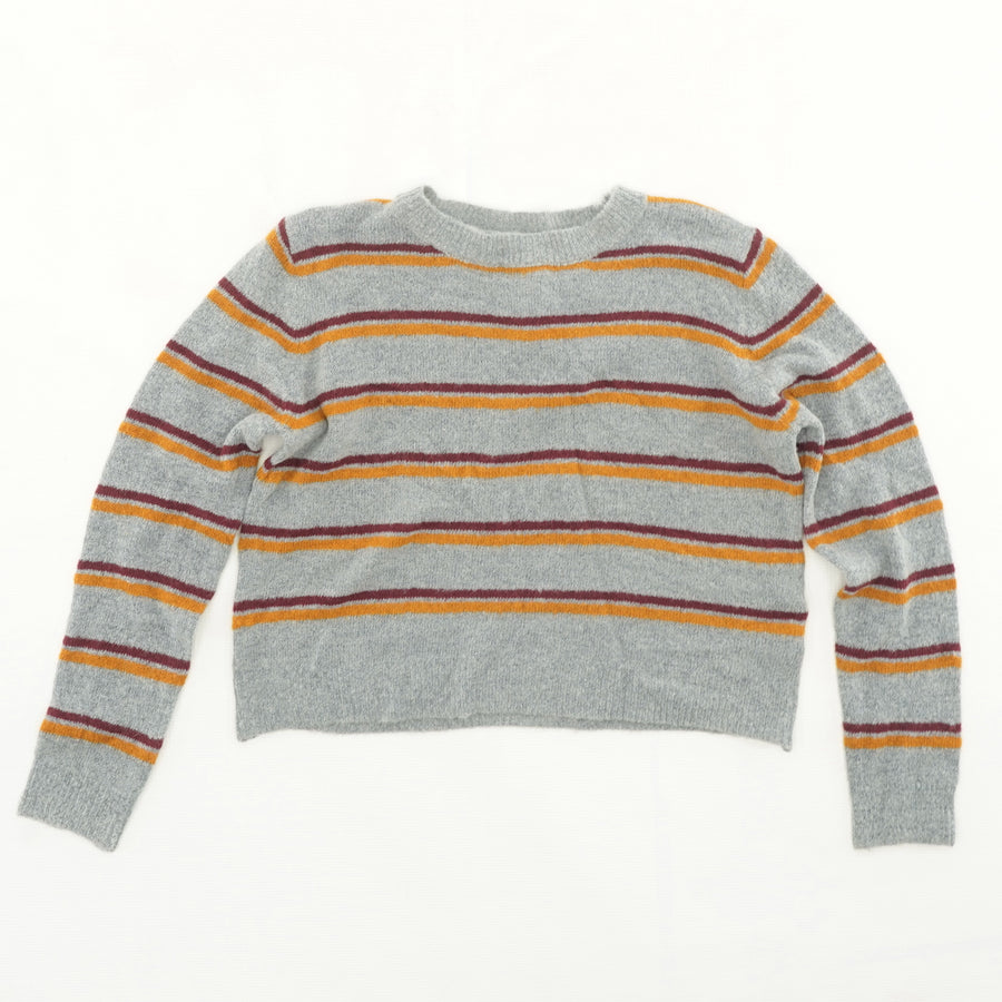 Gray Striped Sweater Size S, L