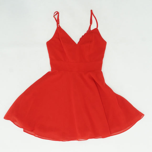 Red Skater Dress Size XS