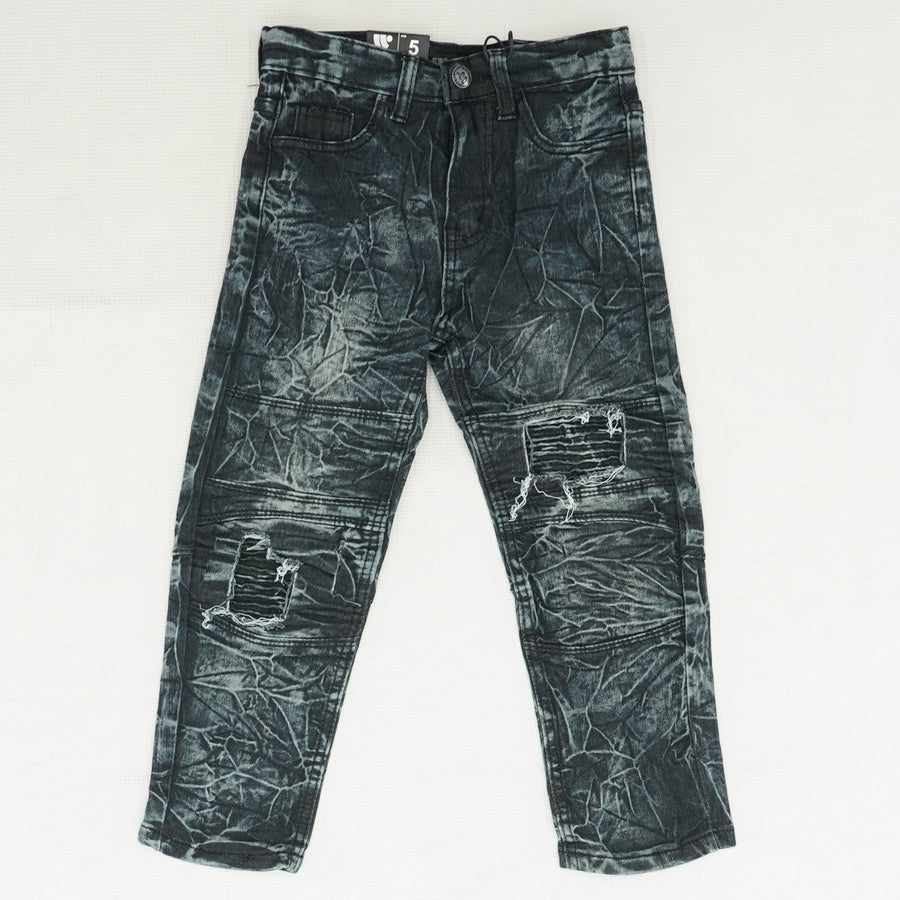 Skinny Fit Bleach Washed Jeans - Size 5