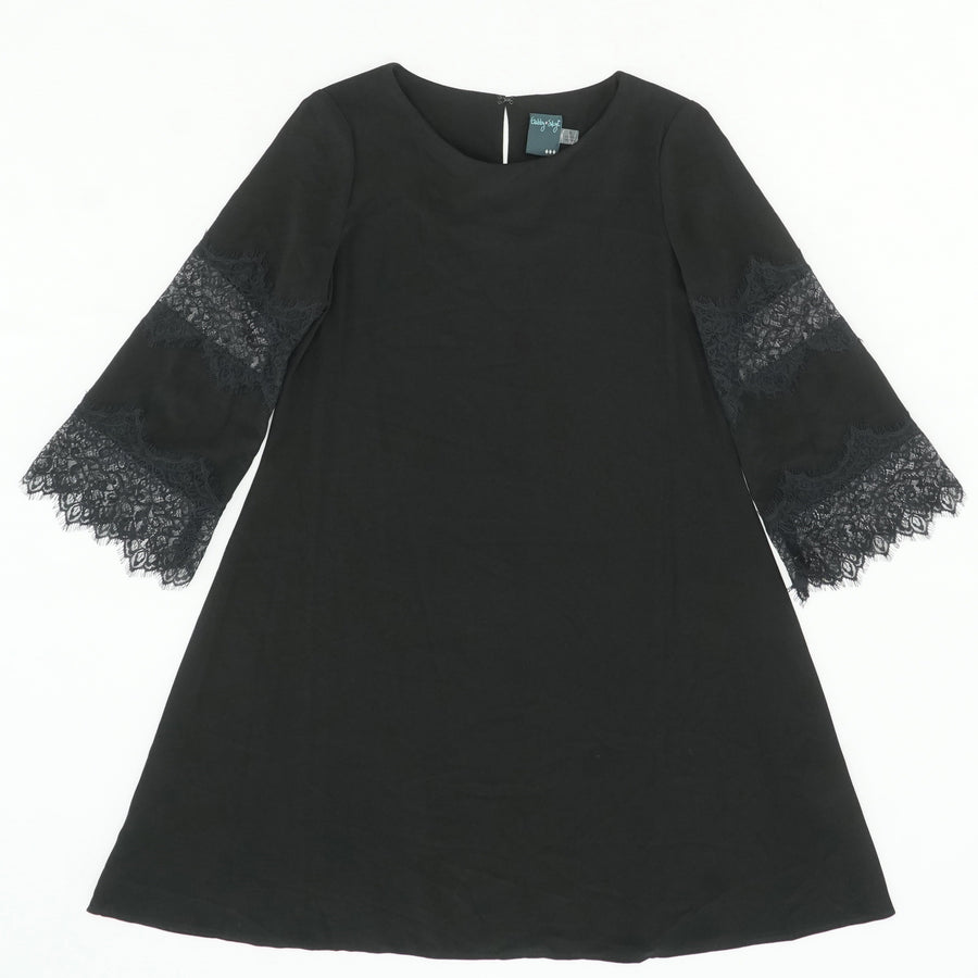 3/4 Lace Sleeve Shift Dress Size 8