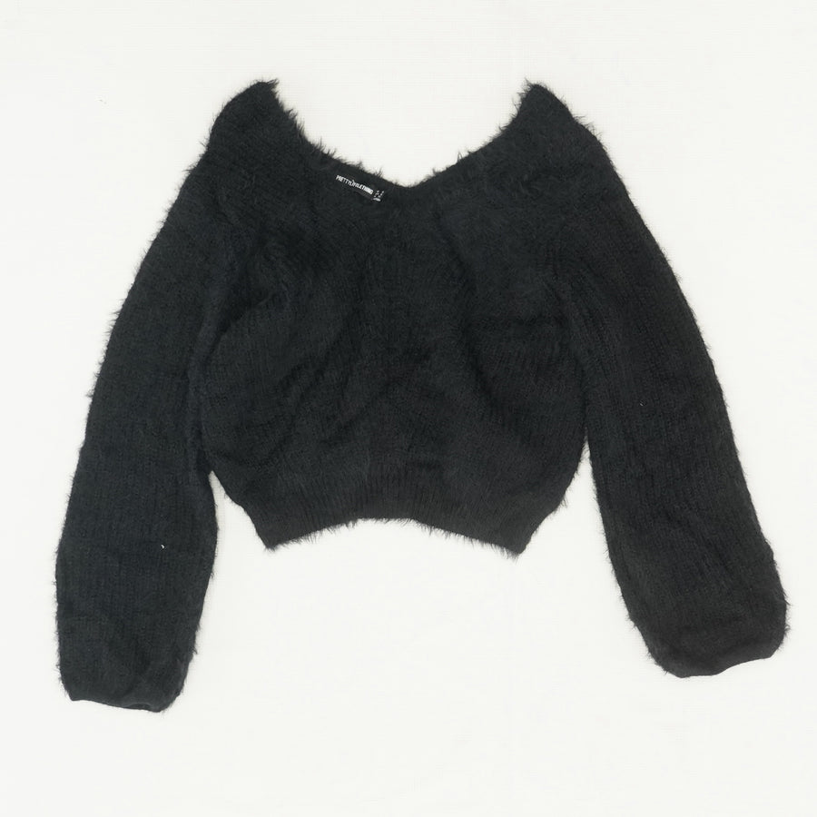 Fuzzy Cropped Sweater Size 0