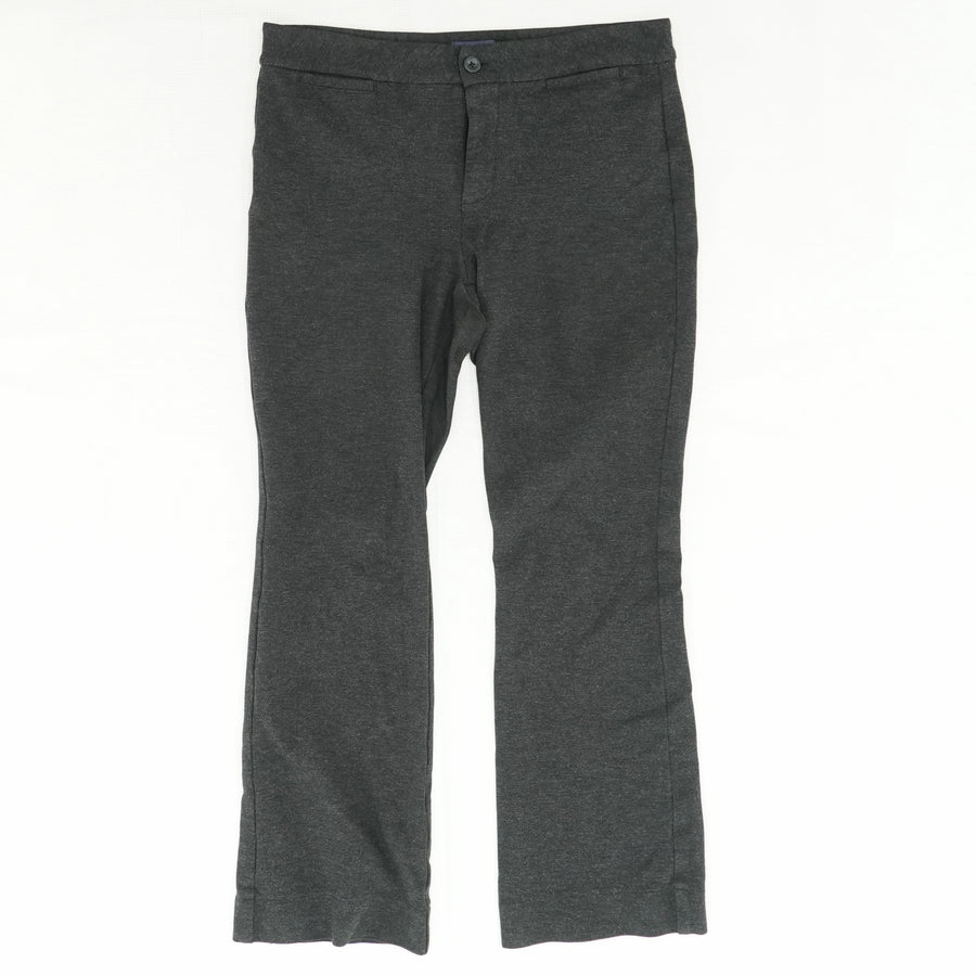 Charcoal Gray Cropped Trousers Size 8