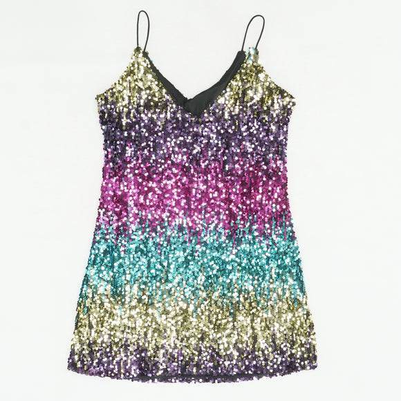 Ombre Sequin Dress Size L