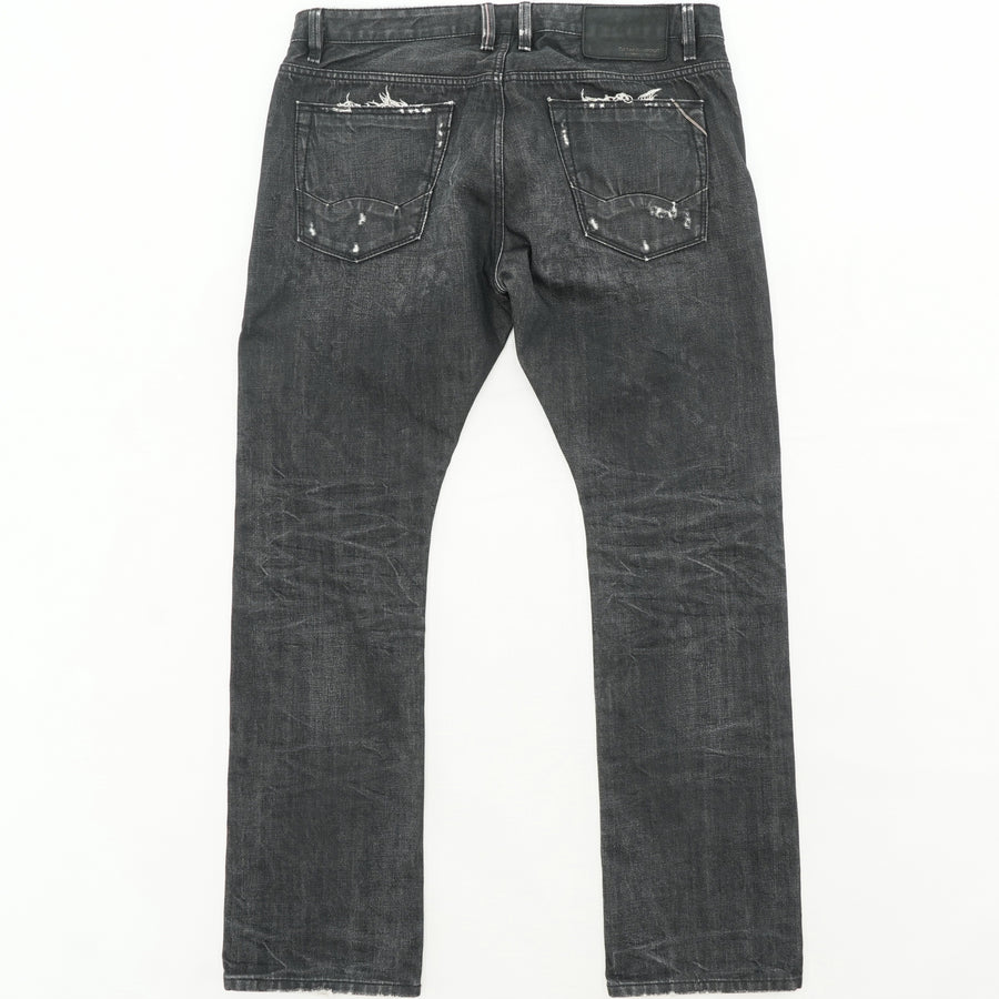 Rebel Straight Jeans Size 38W 34L