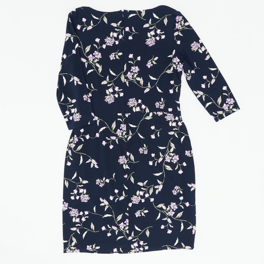 Floral Jersey Cowl-Neck Dress Size 16