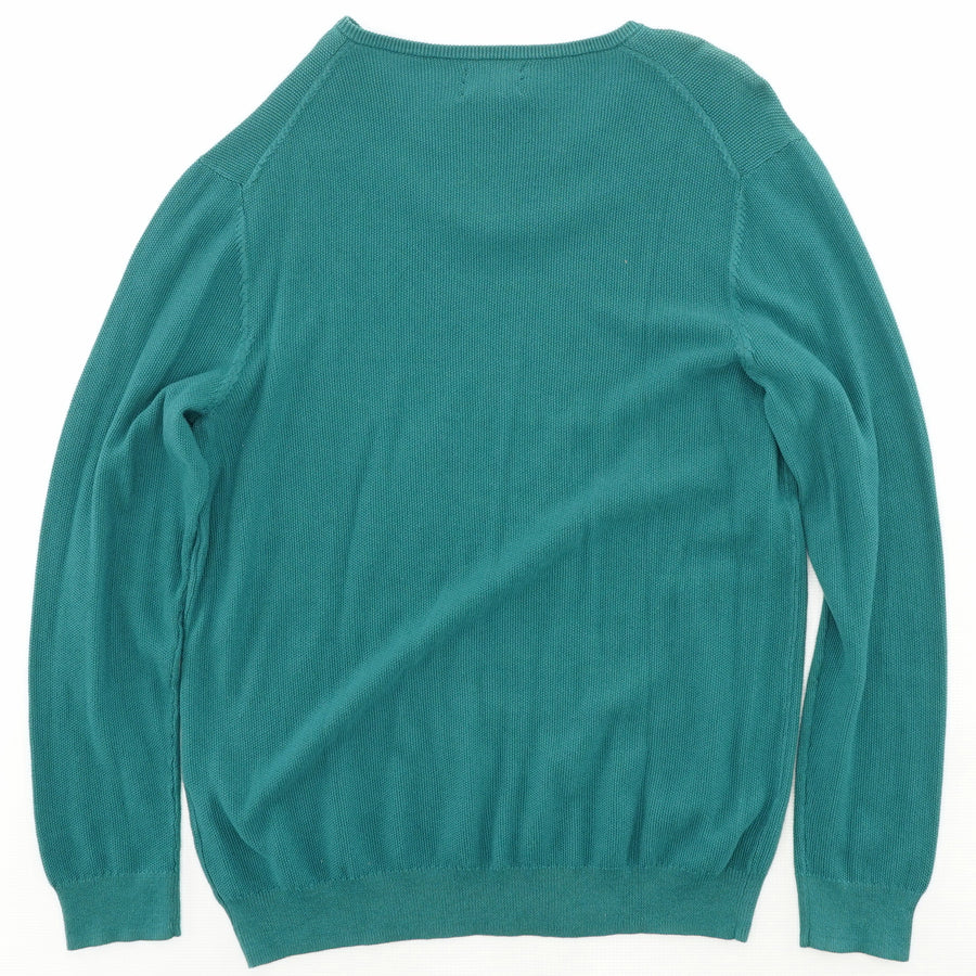 Teal Supima Table Sweater Size L