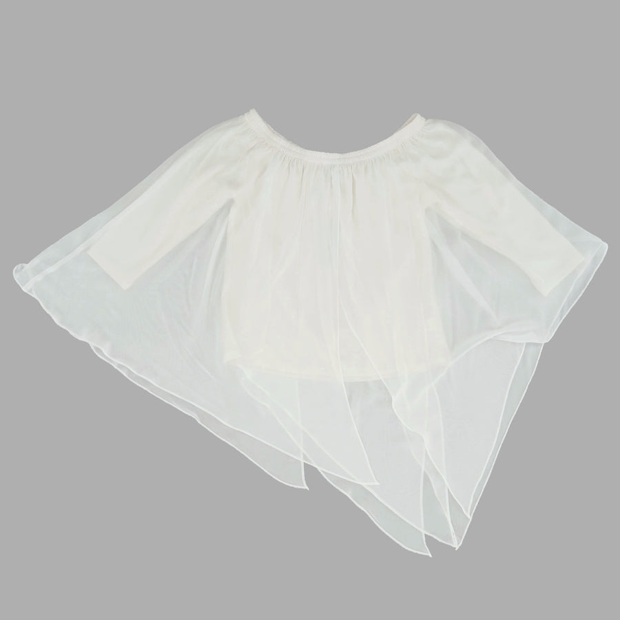 Chiffon Shoulder Top Size XS, S, & M