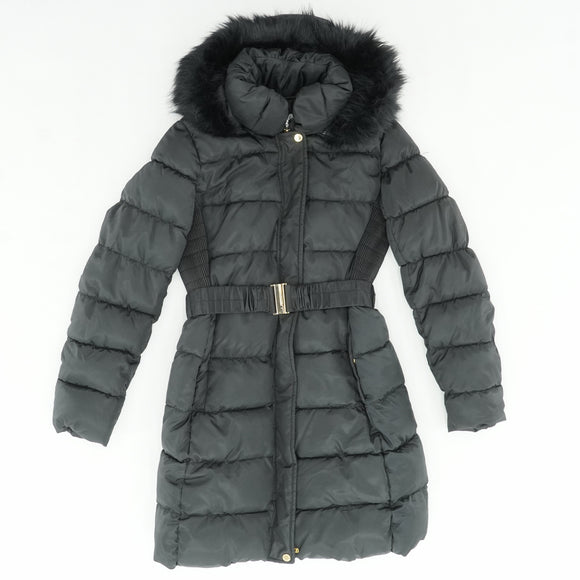 Faux Fur Quilted Puffer Coat
