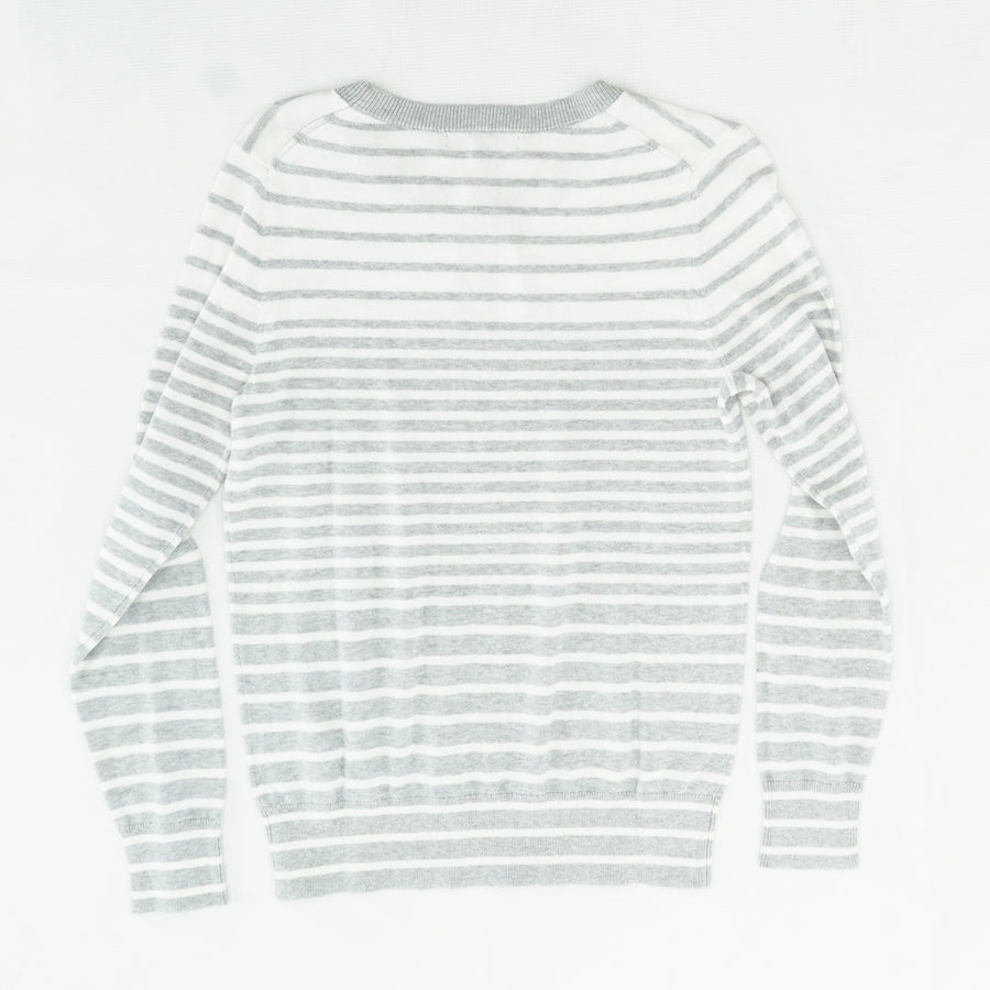 Gray Striped Sweater Size XS