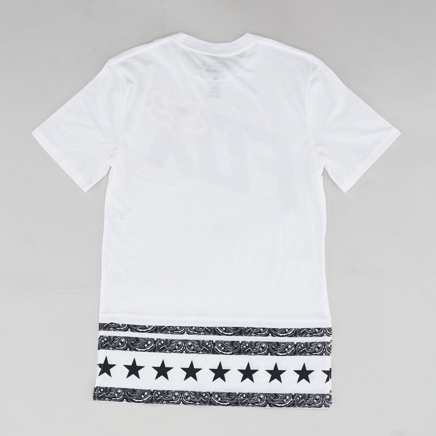Bandanna Dotted Logo Side-Split Graphic Tee