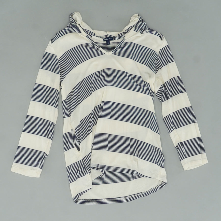 Striped Hooded Tunic Size M