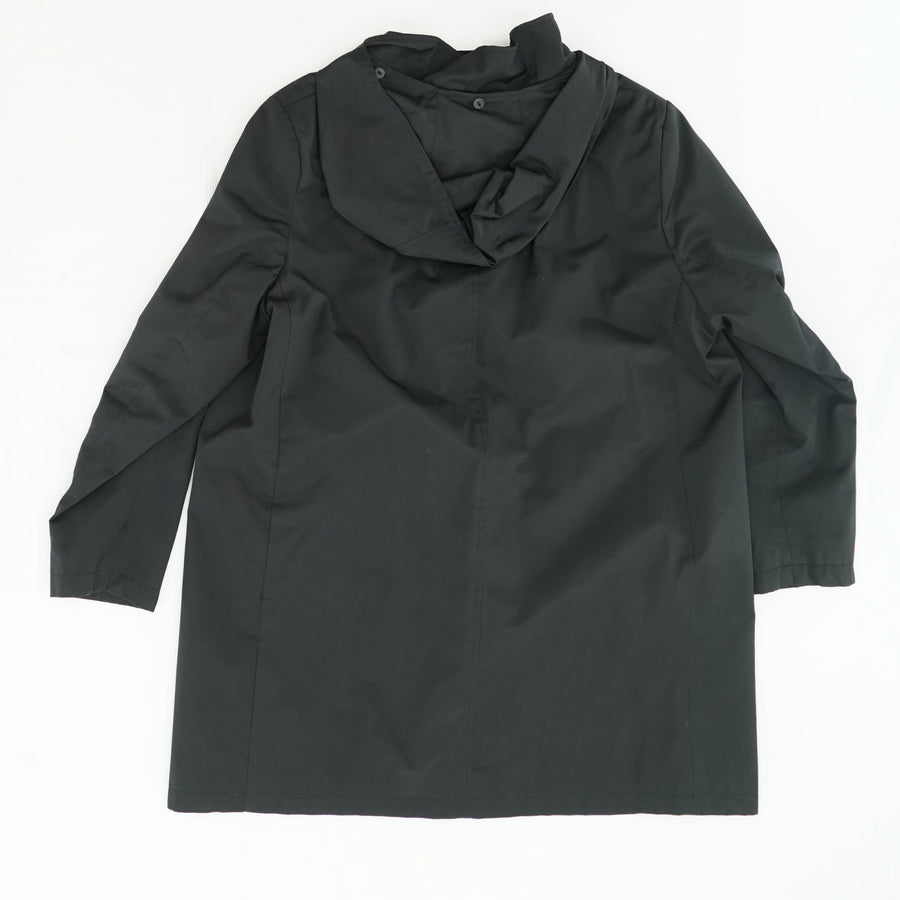 Button Down Trench Coat with Removable Hood - Size 1X