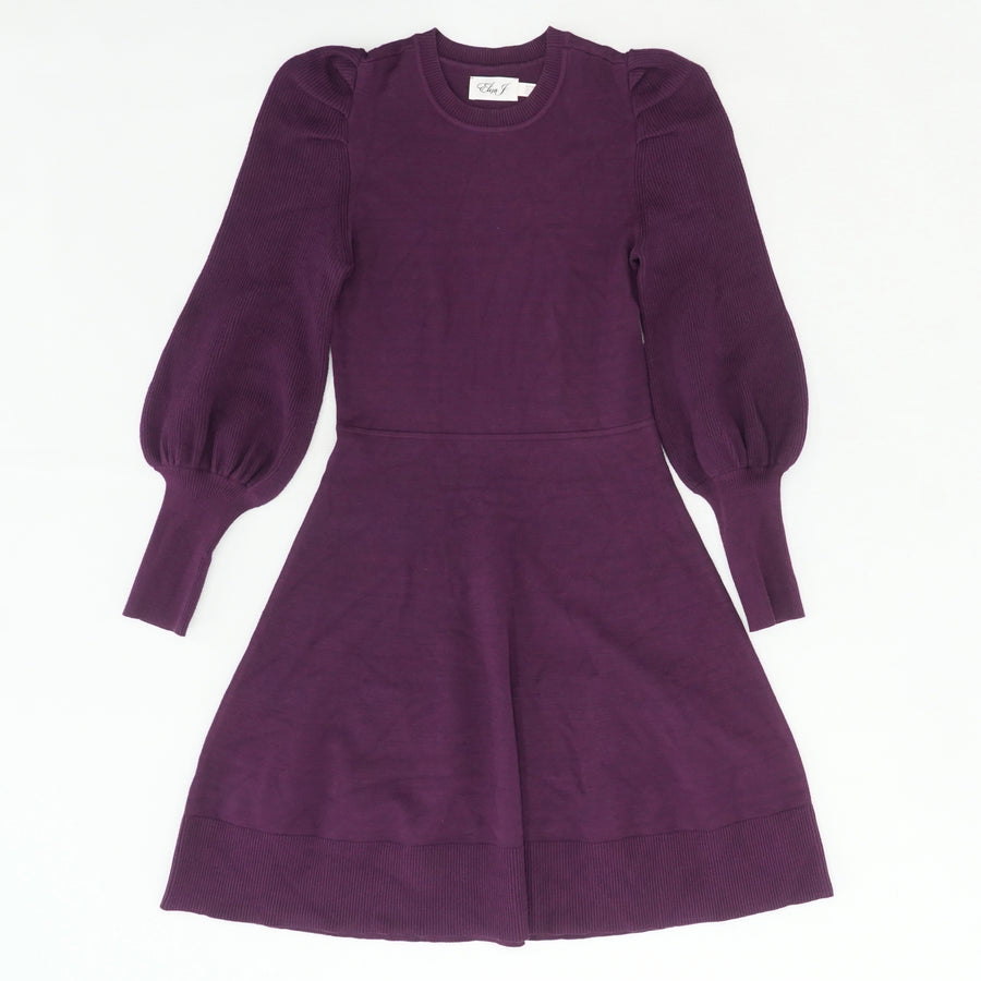 Purple Balloon Sleeve Sweater Dress Size XS