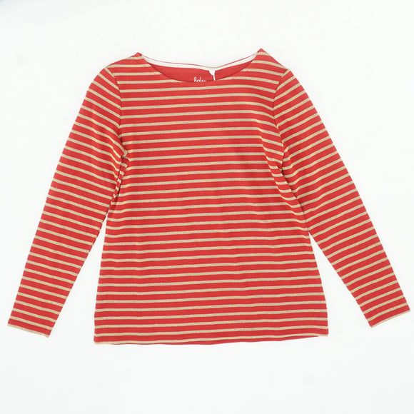 Red And Gold Striped Long Sleeve Shirt Size 10