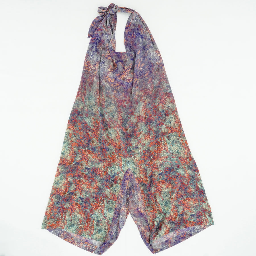 Silk Abstract Floral Halter Size OS