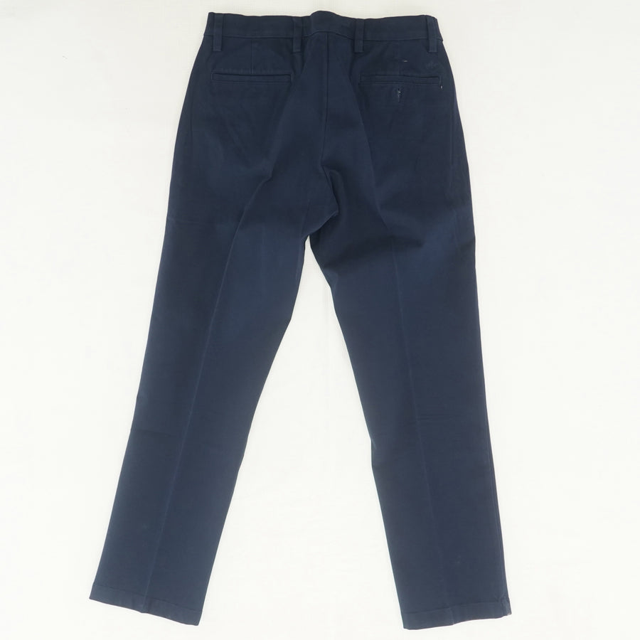 Slim-Fit Navy Slacks Size 33W 32L
