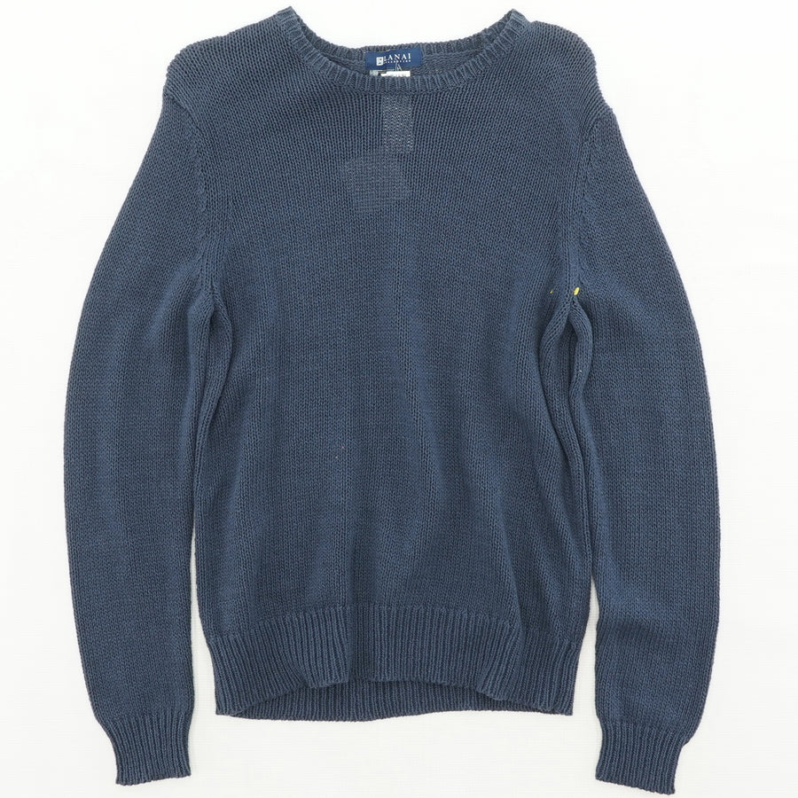 Gray Textured Crew Neck Sweater
