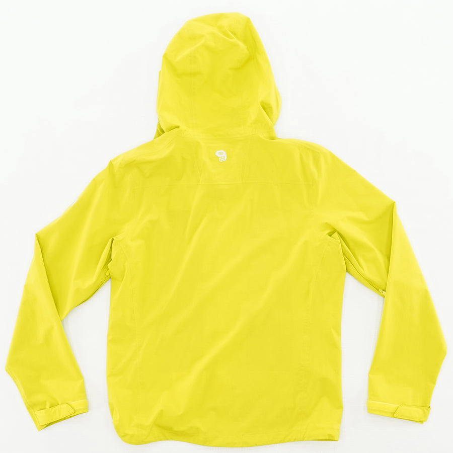 Neon Zip Up Rain Jacket Size S