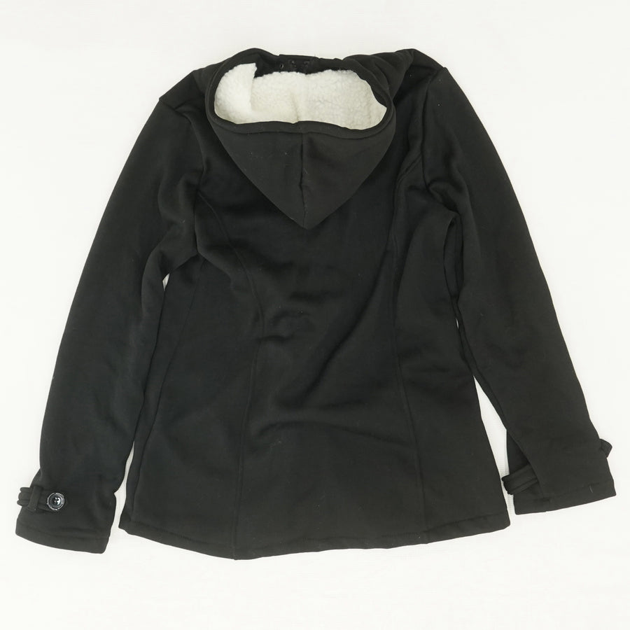 Black Toggle Button Jacket Size L