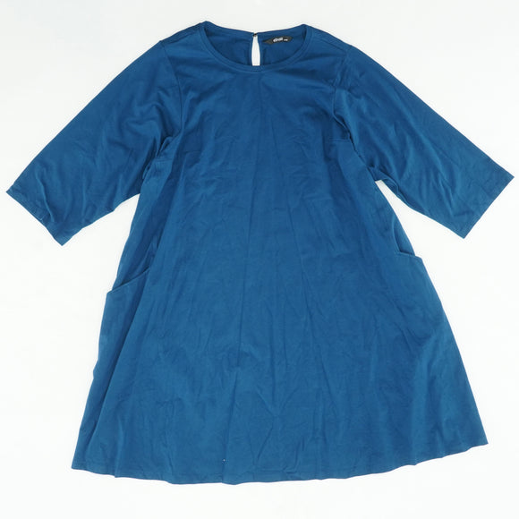 Blue Oversized Dress With Pockets Size L/XL