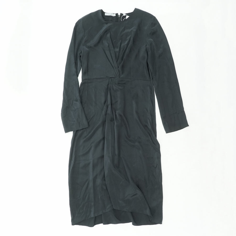 Twist Front Silk Side Zip Dress Size 12