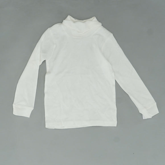 White Solid Turtleneck Sweater Size 4T