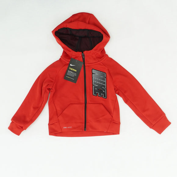 Red Logo Full Zip Jacket Size 2T
