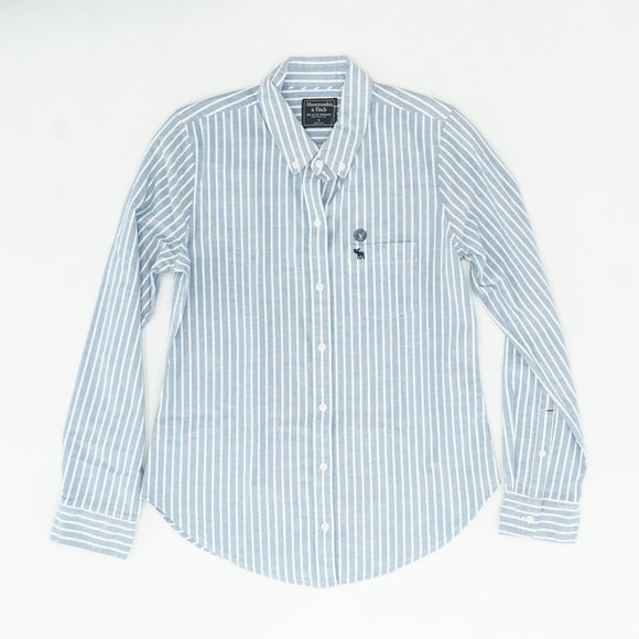 Blue And White Striped Button Down Size S