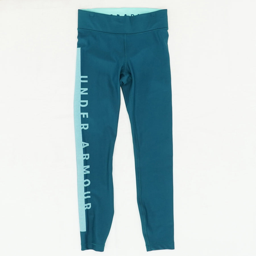 HeatGear Crop Leggings in Tourmaline Teal Size XS